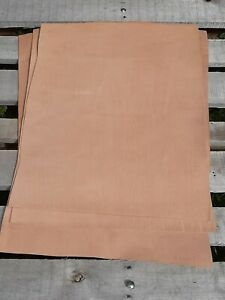 30x30cm PIT TANNED NATURAL VEG TAN LEATHER FULL GRAIN GRADE A -Select thickness-