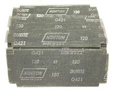 Norton Die-Cut Drywall Sandpaper 120 Grit Screen Mesh Q421 USA Made 100 Pack