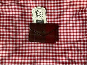 JOULES TWEED BAILEY COIN PURSE - RED CHECK