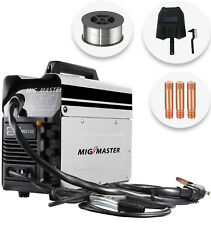 Portable Gasless MIG Welder 130 Amp Auto Flux Wire Feed Welding Machine 240V Kit