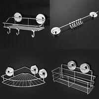 Kitchen Storage Rack Holder Bathroom Shelf Hook Organizer Sucker Stainless Steel