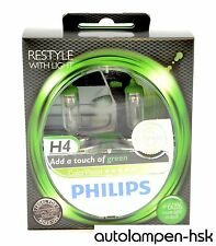 PHILIPS h4 COLORVISION Green lampadine alogene 2er Set - 12342 cvpgs 2 + Nuovo +