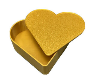 Heart Shaped Shaped 3.5 inch Decor Jewelry Box / Container