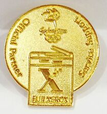 GOLD FUJI XEROX ROUND LOGO SYDNEY OLYMPIC GAMES 2000 PIN BADGE COLLECT #711