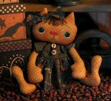 PATTERN Primitive Folk Art Raggedy Kitty Cat Doll CUTEST CAT PATTERN EVER!