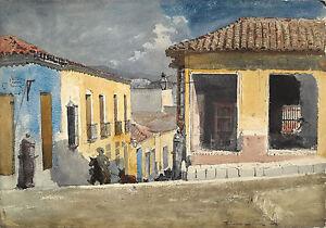 Homer Watercolor Reproductions: Santiago de Cuba, Street Scene: Fine Art Print
