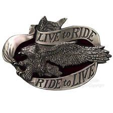 * Adler Gürtelschnalle Trucker Rockabilly Biker Moorradfahrer Belt Buckle *169