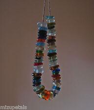 50 Beautiful Artisan Recycled Glass Sequins/Disc Fair Trade Beads Mixed Colors