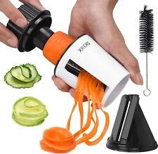 Spiraliser Vegetable Slicer Handheld Spiral - XREXS 2 in 1 Manual Vegetable