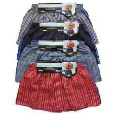 Pack de 6 hommes tissée boxer shorts, loose fit coton sous-vêtements, s m l xl