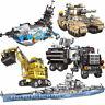 Bausteine Kriegsschiff Militär Spielzeug Kinder Modell Geschenk Toys Gifts 8in1