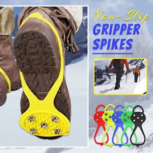 Universal Non-Slip Gripper Spikes Ice Crampons Cleats Anti-slip Shoes Spike