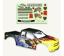 1:5 Redcat Rampage Monster RC Truck Black & Flames Body Shell With Decals MT XT