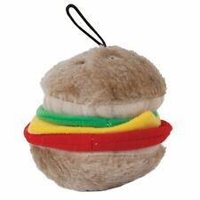 Petmate Plush Burger Shaped Dog Toy Play Soft Bite Medium