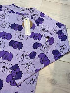 Mini Rodini top fluffy dog purple size 140/146 cm