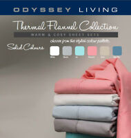 BRAND NEW Soft Brushed Thermal Flannelette Sheet Sets by Odyssey Living