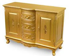 Gold KOMMODE 120 cm schrank massivholz rokoko barock 78325 DE LIEFERUNG