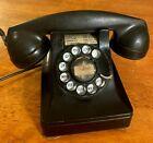 """vintage """"WESTERN ELECTRIC"""" 1930S/1940S BLACK ROTARY TELEPHONE bakelite #302 ??"""
