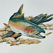 Vintage Fly Fishing Art Print Trout Cabin Decor Fish Lure Outdoorsmans Gallery