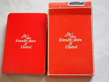 Vintage UNITED AIRLINES PLAYING CARDS White on RED GIN deck