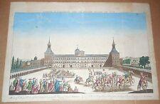 VUE D'OPTIQUE PALAIS ROYAL ROI D'ESPAGNE MADRID ca 1800