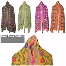 Assorted Scarf Stole Ethnic Women's Phulkari Work Chiffon Wholesale Lot 5 Pieces
