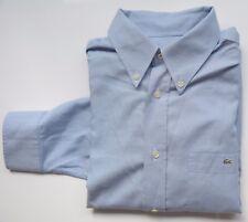 Lacoste Hemd langarm - KW41 (Gr: M/L) blau weiß Zustand: akzeptabel 131017-25