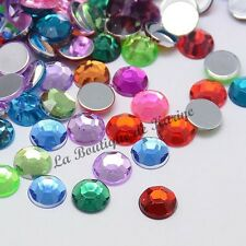 LOT 40 PERLES STRASS ROND A COLLER ACRYLIQUE MULTICOLORE 8 mm - CREATION BIJOUX