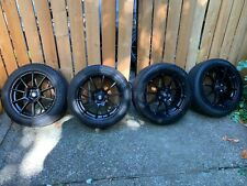 Sparco Assetto Gara 17x75 5x112 Wheels With Michelin Ice X 22550r17 Snow Tires