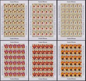 ST65P. Guinea-Bissau - MNH - Butterflies & Orchids - 2005 - Full Sheet
