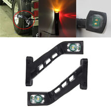 2x Truck Trailer Side Marker Light Extension Indicator Brake Red White Amber LED