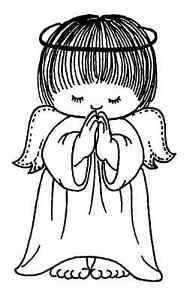 Praying Angel Cling Mounted Rubber Stamp by JudiKins