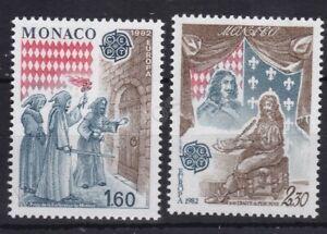 EUROPA MNH STAMP SET 1982 MONACO HISTORICAL EVENTS SG 1665-1666