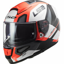 CASCO INTEGRALE  LS2 FF397 VECTOR AUTOMATIC GLOSS WHITE RED TG.XL