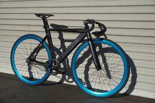 Throne Track Lord Custom Build Fixed Gear Single Speed Bike Black Blue Mr. Bikes