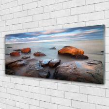 Acrylglasbilder Wandbilder aus Plexiglas® 125x50 Steine Meer Landschaft