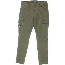 NEW Womens LRL Lauren Jeans Co. Ralph Lauren Aztec Brown Cargo Jogger Pants AU 8