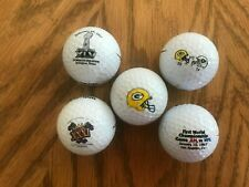New listing 5 Wilson Golf Balls for Green Bay Packers win in Superbowl I,II, XXXI, and XLV