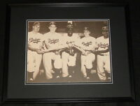 Jackie Robinson Roy Campanella Snider Hodges Reese Dodgers Framed 11x14 Photo