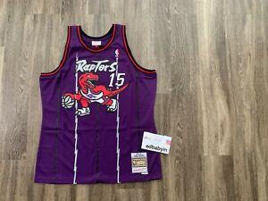 Men Vince Carter Mitchell Ness Toronto Raptors Dino Jersey Swingman NBA Vintage