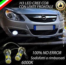 COPPIA LAMPADE FENDINEBBIA H3 LED CREE COB CANBUS PER OPEL CORSA D 6000K