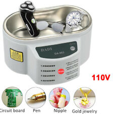 Mini Professional Ultrasonic Jewelry Cleaner Machine For Gold Silver Necklace