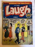 LAUGH #39 archie comic 1950 GIRL / teen humor Base-brawl, Katy Keene