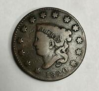 1820 P Large Cent 1C Very Fine