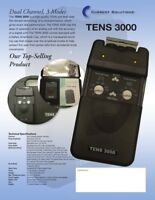 TENS 3000 DIGITAL TENS UNIT. BATTERY, LEADWIRES, CASE & ELECTRODES INCLUDED