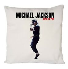"COOL MICHAEL JACKSON KING OF POP CUSHION COVER 16X16"""