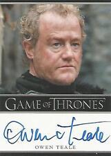 "Game of Thrones Season 1 - Owen Teale ""Allister Thorne"" Autograph Card"