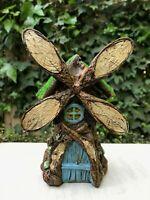 Miniature Dollhouse FAIRY GARDEN ~ Mini Resin Wood Look Windmill House