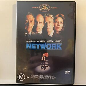 NETWORK 1976 DVD Movie Cult Classic Satire Like New Disc Free Postage