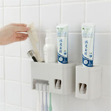 Automatic Toothpaste Dispenser Toothbrush Holder Wall Mount Stand Squeezer Z